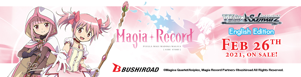 Booster Pack Magia Record: Puella Magi Madoka Magica Side Story on sale, February 26, 2021