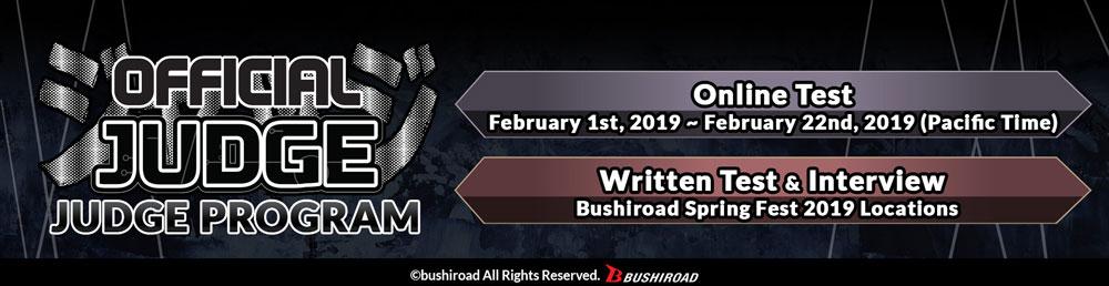Bushiroad Judge Program 2019