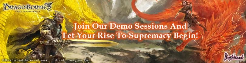 Dragoborne Demo Session banner