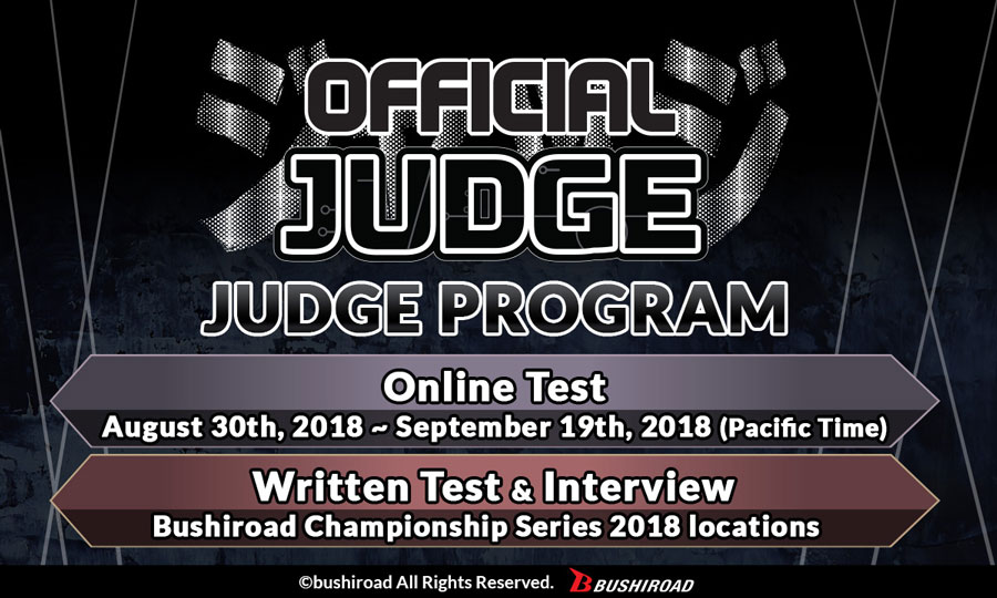 Bushiroad Judge Program